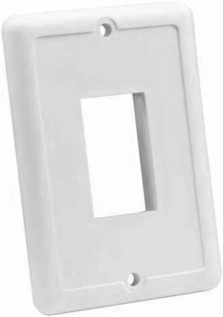 JR Products 14035 RV Single Switch Face Plate - White