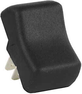 JR Products 14075 Multi-Purpose Single Rocker Momentary-On/Off Switch Without Bezel - Black