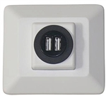 Diamond Group USB Double Charging Station - White
