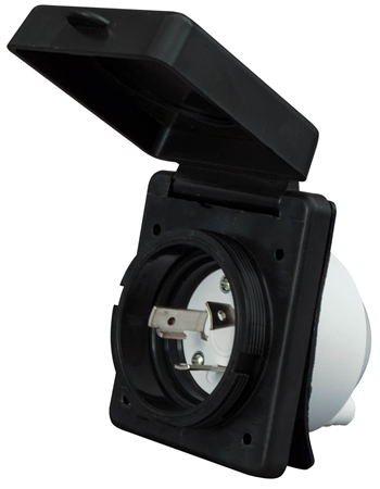 Valterra Mighty Cord 30A Power Inlet, Black