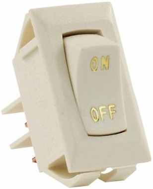 JR Products 12615 Multi-Purpose SPST Switch - Ivory