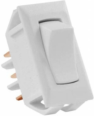 JR Products 12635 Multi-Purpose Single Rocker On/On Switch - White