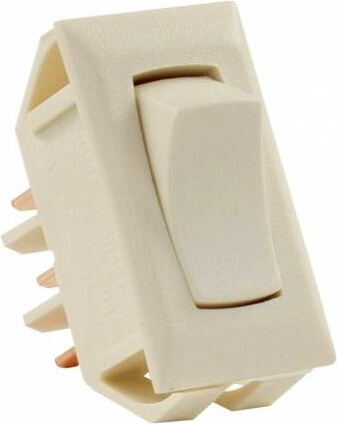 JR Products 12655 Multi-Purpose Single Rocker On/On Switch - Ivory