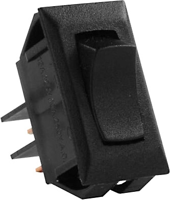 JR Products 12705 Multi-Purpose Single Rocker Momentary-On/Off Switch - Black