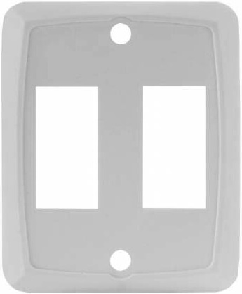 JR Products 12875 RV Double Switch Face Plate - White
