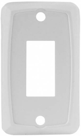 JR Products 12845 RV Single Switch Face Plate - White
