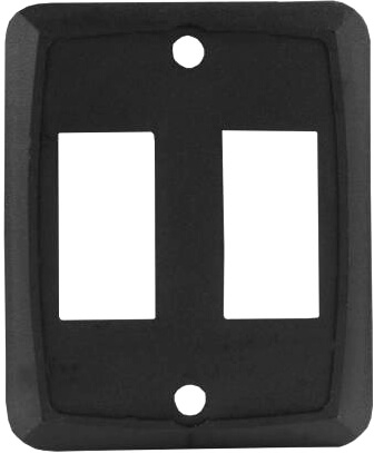 JR Products 12885 RV Double Switch Face Plate - Black