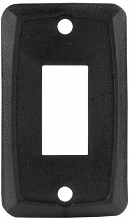 JR Products 12855 RV Single Switch Face Plate - Black