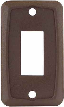 JR Products 12865 RV Single Switch Face Plate - Brown
