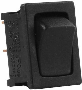 JR Products 12781-5 Multi-Purpose Single Rocker Switch 5 Pack - Black