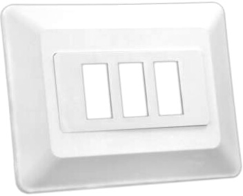 JR Products 13625 RV Triple Switch Face Plate - White