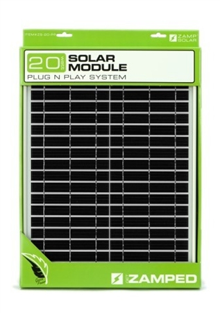Zamp Solar 20 Watt Panel With Plug