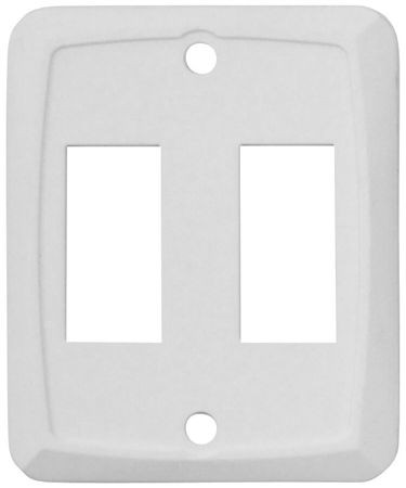 Diamond Group P7201C Double Switch Wall Plate - White