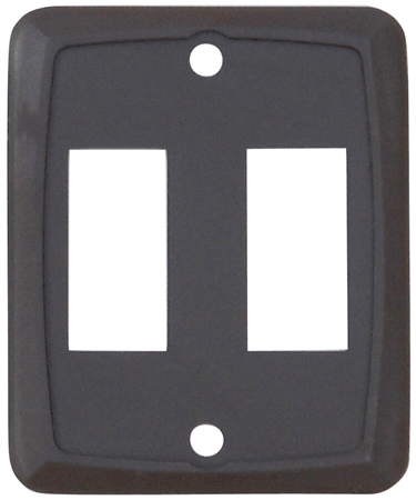 Valterra DG7218VP Double Switch Wall Plate - Brown