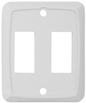 Valterra DG258VP Double Switch Wall Plate - Ivory
