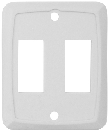 Diamond Group P7258C Double Switch Wall Plate - Ivory