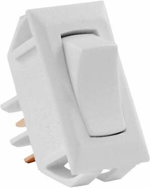 JR Products 13665 Multi-Purpose Single Rocker Momentary-On/Off Switch - White