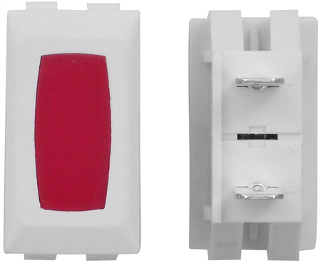 Diamond Group ZU-12-14C 12V Power Indicator Lamp - White/Red