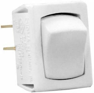 JR Products 13645 Multi-Purpose Single Rocker Mini Switch - White