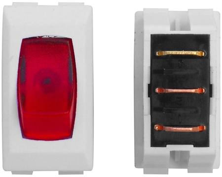 Diamond Group A1-10C SPST Illuminated On/Off Rocker Switch - White/Red