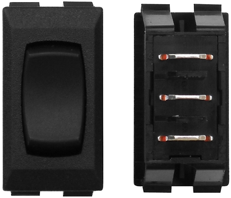 Diamond Group F1-12C Momentary On/Off/On Switch - Black
