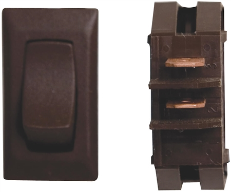 Diamond Group G1-14UC SPDT Momentary On/Off Switch - Brown