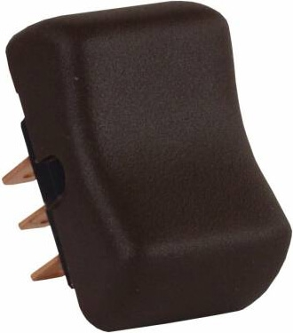 JR Products 13015 Multi-Purpose Single Rocker Mom-On/Off/Mom-On Switch Without Bezel - Brown