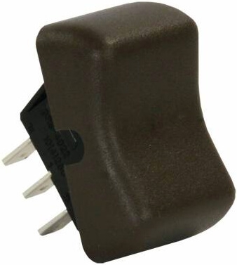 JR Products 13085 Multi-Purpose Single Rocker Switch - Brown
