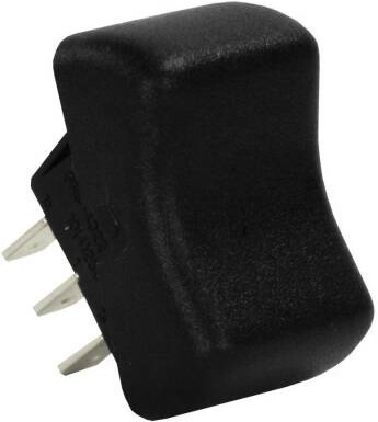 JR Products 13095 Multi-Purpose Single Rocker Switch - Black