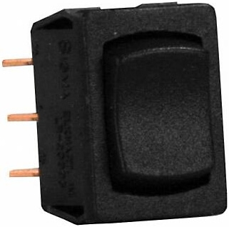JR Products 13345 Multi-Purpose Single Rocker On/Off/On Switch - Black