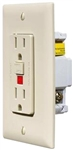 RV Designer S803 AC GFCI Dual Outlet With Ivory Cover Plate
