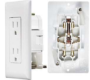 Rv Electrical Outlet >> Rv Designer S811 Ac Self Contained Dual Outlet With White Cover Plate