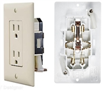 RV Designer S813 AC Self Contained Dual Outlet With Ivory Cover Plate