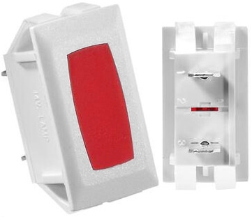 RV Designer S365 Power Indicator Lights - White W/Red