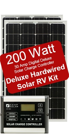 Zamp Solar Battery Charger Deluxe RV Kit 200W Panal