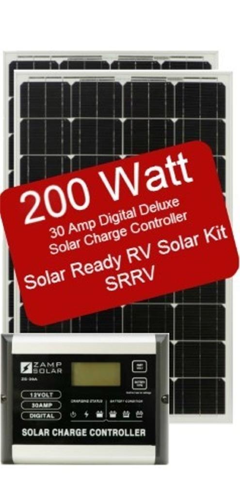 Zamp Solar Zs 200 30a Srrv 200w Solar Ready Rv Kit