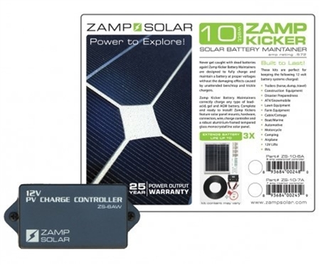 Zamp Solar Zamp KICKER 20 Watt 10 Amp Battery Maintainer Kit