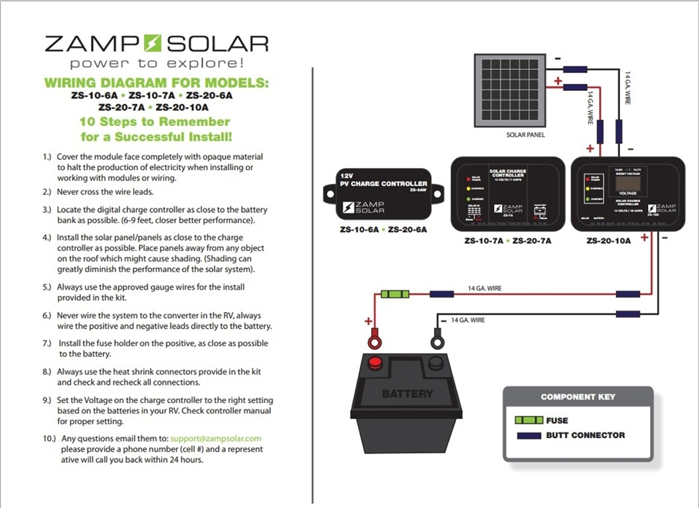 Zamp Solar Zs 20 6a Zamp Kicker 20 Watt 6 Amp Battery