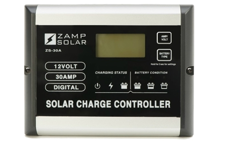 Zamp Solar 30 Amp 5 Stage Digital Deluxe Solar Charge Controller