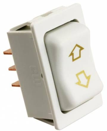 JR Products 12385 RV Slide Out Momentary Switch - White
