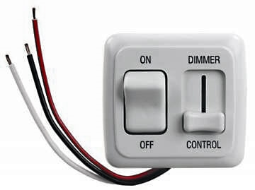 JR Products 15205 RV Dimmer On/Off Light Switch