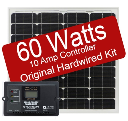 Zamp Solar 60 Watt 10 Amp Original Hard-wired Kit