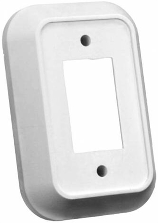 JR Products 13485 RV Single Switch Wall Spacer - White