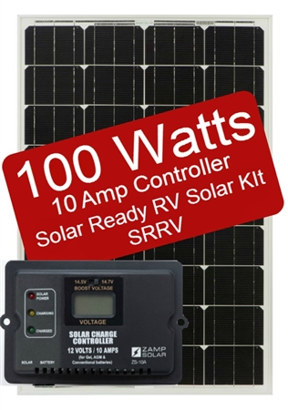 Zamp Solar 100 Watt 10 Amp Solar Ready RV Charge Kit