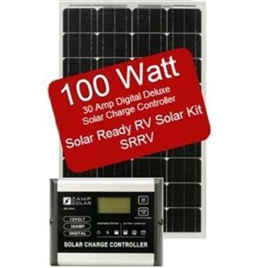 Zamp Solar Zs 100 30a Srrv 100 Watt 30 Amp Solar Ready Rv