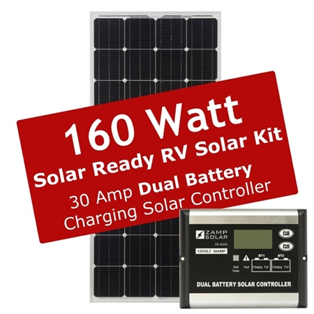 Zamp Solar 160 Watt 30 Amp Solar Ready RV Charge Kit