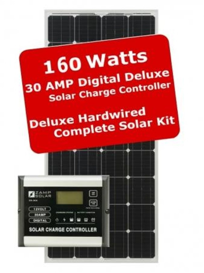Zamp Solar Zs 160 30a Dx 160w 30amp Deluxe Rv Battery