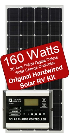 Zamp Solar 160 Watt 30 Amp Original Hardwired Solar RV Kit