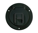 "RV Designer B123 Black RV Cable Hatch - 4.3"" X 2.3"""