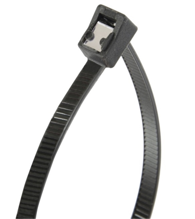 "GB 46-308UVBSC Self Cutting Cable Tie, 8"" Long, Black, 50lb Tensile Strength"